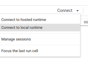 Connect to Local Runtime